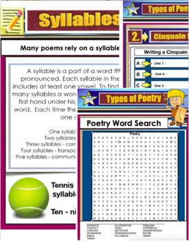 POETRY UNIT PDF - Types of poems - Language 22 Pages