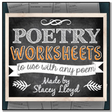 POETRY GRAPHIC ORGANIZERS {for any poem}