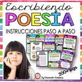 POETRY WRITING UNIT IN SPANISH/ ESCRIBIENDO POESÍA - PRINTABLE & GOOGLE SLIDES