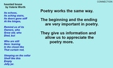 Poetry Reading & Writing - 22 Sessions - Google Slides, PowerPoint, SMART, & PDF