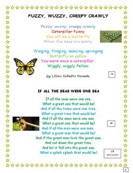 POETRY for FLUENCY- 2nd Grade