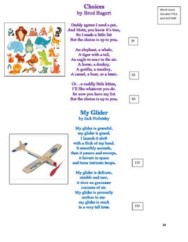 POETRY for FLUENCY- 4th Grade
