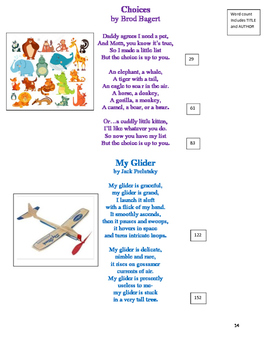 POETRY for FLUENCY- 4th Grade