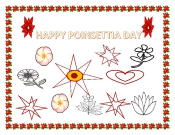 POINSETTIA  DAY COLORING PAGE