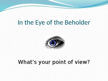 POINT OF VIEW PowerPoint  (with built-in practice)