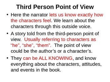 POINT OF VIEW- novel To Kill a Mockingbird