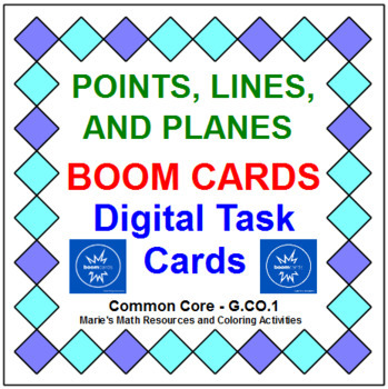 "POINTS, LINES, AND PLANES: ""DIGITAL"" BOOM CARDS (20 TASK CARDS)"