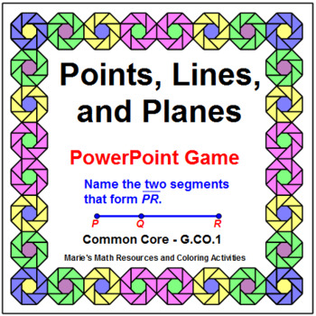 POINTS, LINES, AND PLANES:  POWERPOINT GAME - WIPE OUT!
