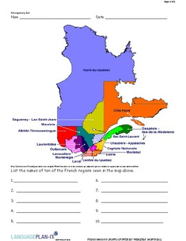 POINTS OF INTEREST WEB QUEST,  QUEBEC (FRENCH)
