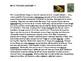 POISON ARROW FROGS - TINY BUT DANGEROUS (Article & worksheet)