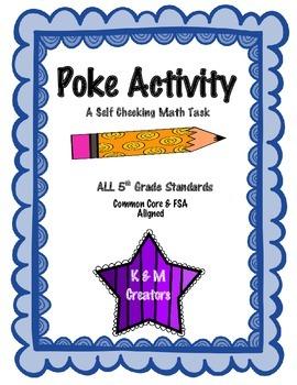 POKE Self Checking Math Task - ALL 5th Grade Math Standards