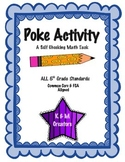 POKE Self Checking Math Task - ALL 5th Grade Math Standards