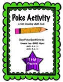 POKE Self Checking Math Task - Classifying Quadrilaterals: