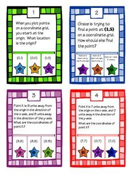 POKE Self Checking Math Task - Coordinate Planes: 5.G.1.1 & 5.G.1.2