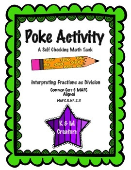 POKE Self Checking Math Task - Interpreting Fractions as Division: MAFS.5.NF.2.3