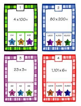 POKE Self Checking Math Task - Multiplication: 5.NBT.2.5