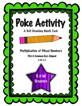 POKE Self Checking Math Task - Multiplication of Mixed Numbers: 5.NF.2.6