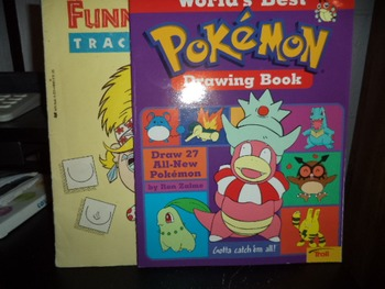 POKEMON DRAWING BOOK  FUNNY  TRACING FUN (SET OF 2)
