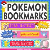 POKEMON GO Bookmarks, Shelf Markers or Desk Name Plates - EDITABLE