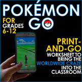POKEMON GO - Bring the Craze Into the Classroom! Research & Writing Skills