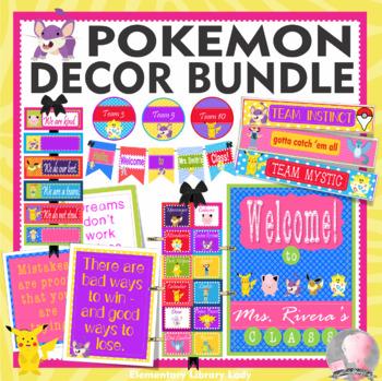 POKEMON GO Theme Classroom Decor - BUNDLE