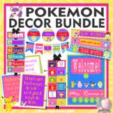 Classroom Theme Decor Bundle POKEMON Posters, Job & Rules Cards, Bookmarks, More
