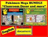 POKEMON Theme Classroom DECOR Bundle  English