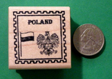 POLAND Country/Passport Rubber Stamp