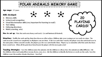 POLAR ANIMALS MEMORY GAME