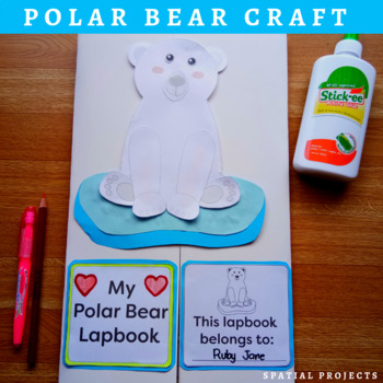 POLAR BEAR NONFICTION UNIT (Craft Pattern and Lap book Included)