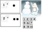 POLAR BEAR SNOW BEAR COUNTING