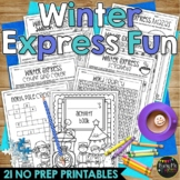 Winter Train Express Activities Packet NO PREP Fun for Winter