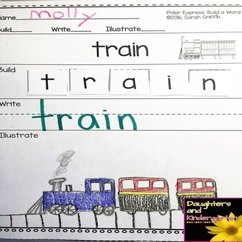 Making Words - Polar Express -  Writing Center and Character Cards