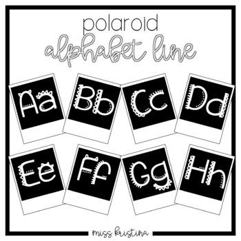 POLAROID ALPHABET LINE