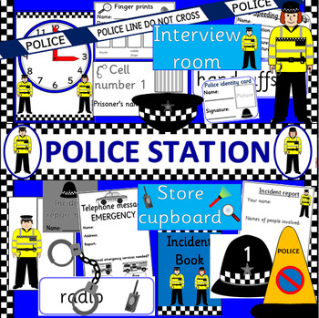 POLICE role play pack- dramatic play