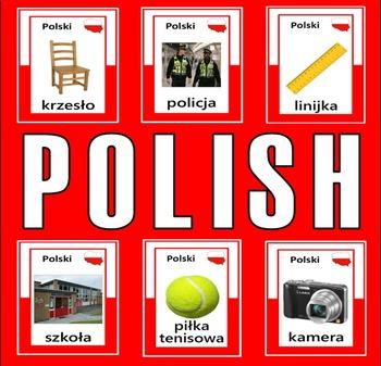 POLISH AND ENGLISH FLASHCARDS LANGUAGE RESOURCES DISPLAY POLAND ESL