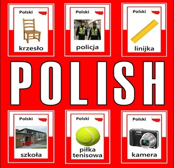 POLISH AND ENGLISH FLASHCARDS LANGUAGE RESOURCES DISPLAY P