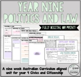 YEAR 9 POLITICS AND LAW - PRINT OR DIGITAL FULL UNIT (AUST
