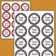 POLKA DOT Circle Round Labels Editable Classroom Folder Name Tags (5294)