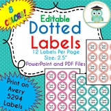 POLKA DOT Circle Labels Editable Folder (Avery 5294) PARTY COLORS