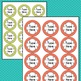 POLKA DOT Circle Round Labels Editable Classroom Name Tags  (Avery 5294) PARTY