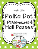 POLKA DOT Hall Passes Lanyards {EDITABLE}