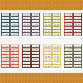 POLKA DOT Labels Editable Classroom Notebook Folder Name Tags (FALL, Avery 5162)