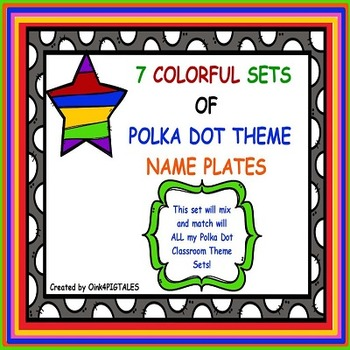 COLORFUL AND SIMPLE NAME PLATES