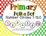 Primary POLKA DOT Number Circles 1-120