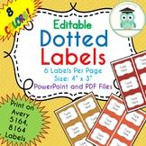 POLKA DOTS Labels Editable Classroom Notebook Folder Name Tag (FALL, Avery 5164)