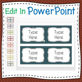 POLKA DOTS Labels Editable Classroom Notebook Folder Name Tag (FALL, Avery 5168)