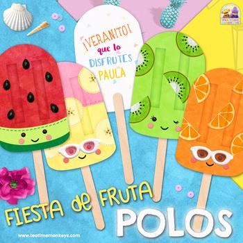 POLOS HELADO - FRUTA - Regalo fin de curso, recompensas, recuerdo de fiesta