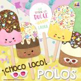 POLOS HELADO - CHOCO LOCO - Regalo fin de curso, recompensas, recuerdo de fiesta