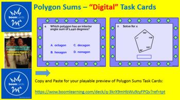 "POLYGON SUMS: ""DIGITAL"" BOOM CARDS (32 TASK CARDS)"